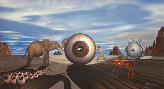 Eye of  Eyes. We have the eye for  web development. Oil painting by Christian Staebler