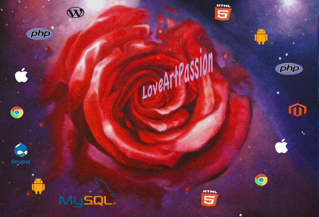 Software Development - Love Solution. Oil painting. Design by Christian Staebler